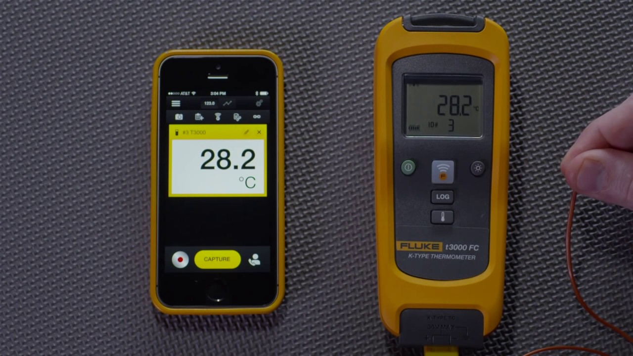 How to Connect The Fluke T3000 FC Wireless Temperature Module to The Fluke  Connect® App