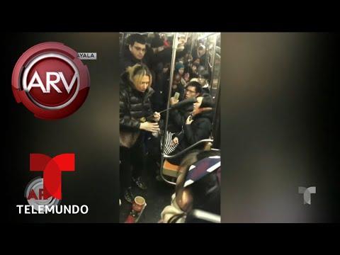 Youtuber hispano graba violento ataque racista en metro de Nueva York   Al Rojo Vivo   Telemundo