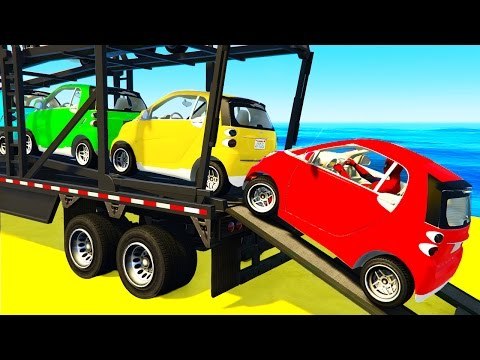 Thumbnail: Small CARS Transportation and Spiderman in Funny Cartoon for Children and Kids Nursery Rhymes