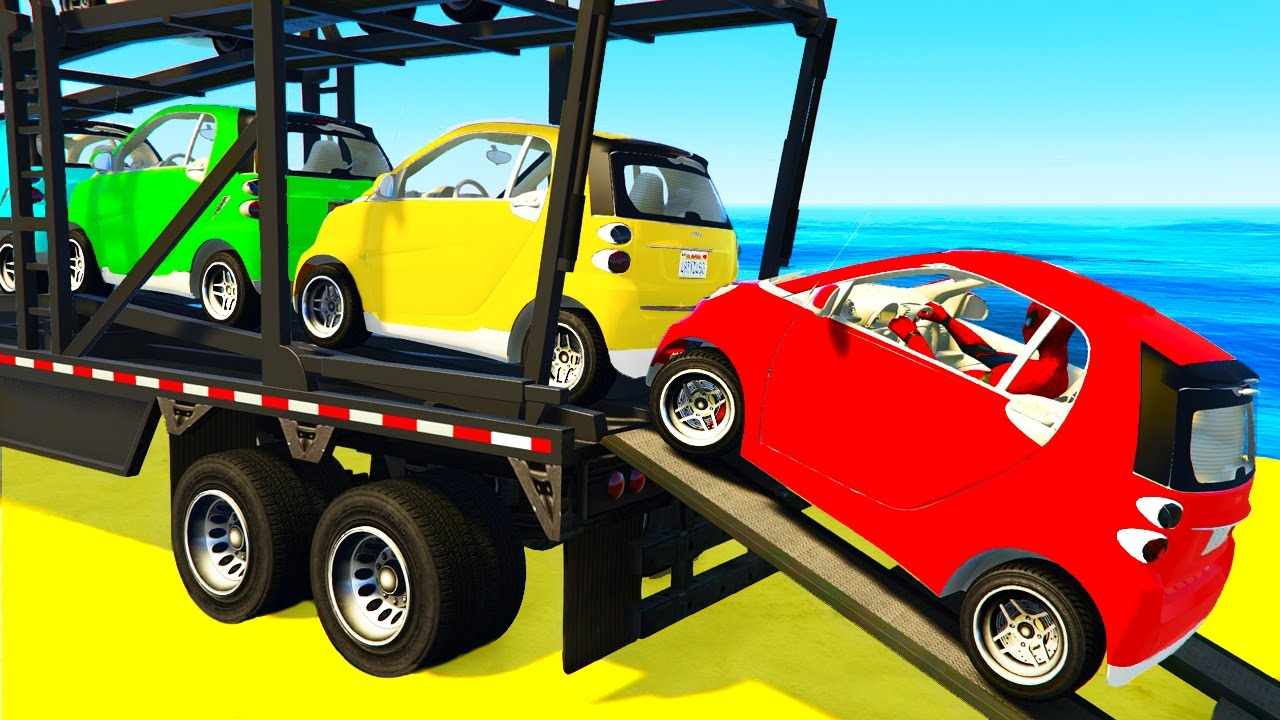 Small CARS Transportation and Spiderman in Humorous Cartoon for Kids and Youngsters Nursery Rhymes