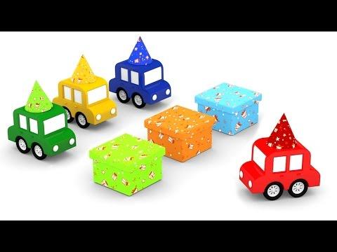 Immagini Di Natale Per Bambini Colorate.Cartoni Animati Per Bambini Macchinine Colorate E I Regali