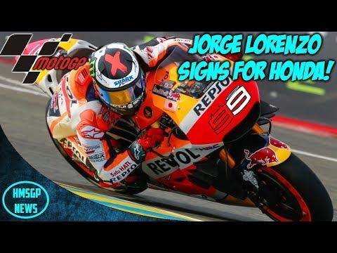 MotoGP News: Jorge Lorenzo Signs For Repsol Honda!