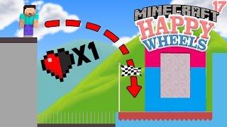 NIVEL 99% IMPOSIBLE DE HAPPY WHEELS EN MINECRAFT?   DIMENSIONES 2 EP. 17