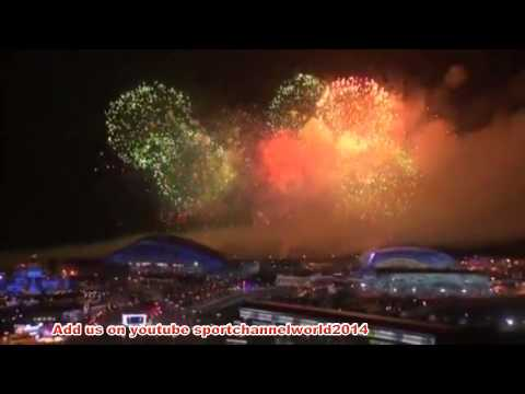 Closing Ceremony Sochi Winter Olympics 2014 Light show VIDEO