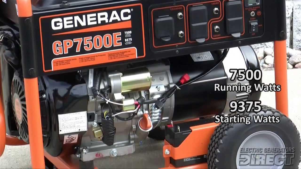 Generac Gp E Watt Generator
