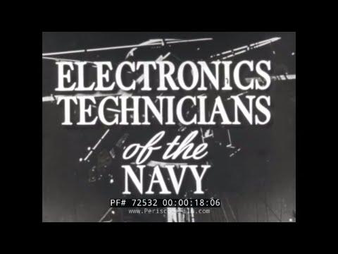 ELECTRONICS TECHNICIANS OF THE NAVY BAT BOMB / SONAR / RADAR POST-WWII RECRUITMENT FILM 72532