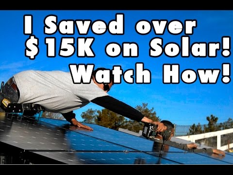 DIY Solar Install San Diego--Homeowner Saves Over $15K