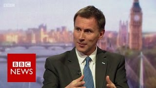 Jeremy Hunt (FULL) interview on Andrew Marr Show   BBC News