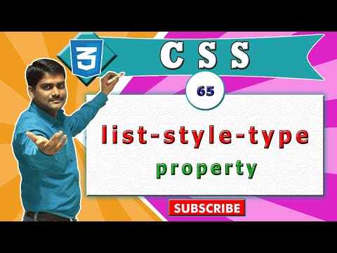 CSS video tutorial - 65 - CSS list style type property vs HTML ul tag