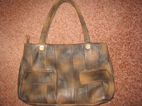 473423d5facd Кожаная сумка из старой куртки - YouTube