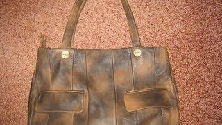 Кожаная сумка из старой куртки