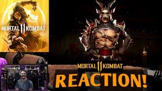 Mortal Kombat 11 Shao Kahn Reveal Trailer : REACTION!