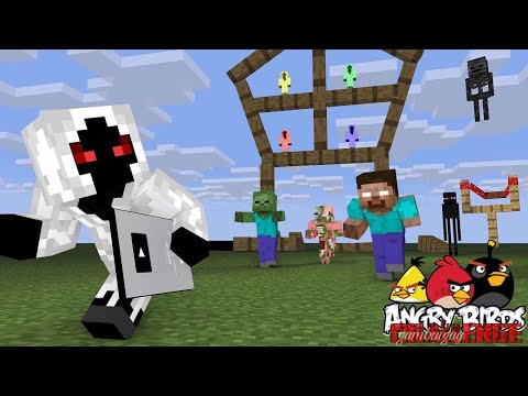 Monster School : ANGRY BIRD CHALLENGE FT.  ENTITY 303  Minecraft Animation