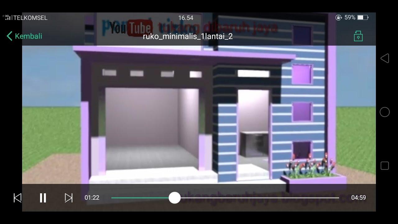 Desain Ruko Minimalis 1 Lantai Modern Terbaru Youtube