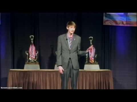 IHSA 2013 Extemporaneous State Champion  Tyler Ross