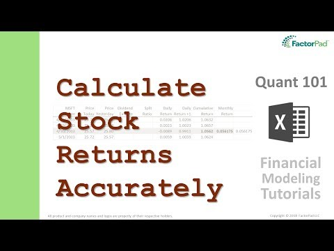 Calculate Monthly Returns On Stocks In Excel | Financial Modeling Tutorials