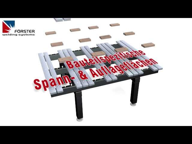 FÖRSTER SCHWEISSTISCH SYSTEM - 3D SPANNTISCH - MODULAR WELDING TABLE