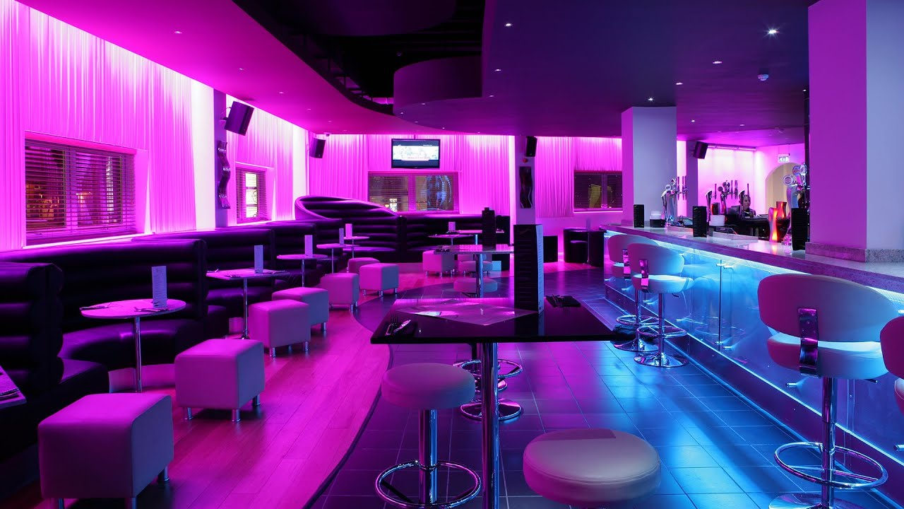Led Strip Lights Sence Nightclub Fitted With Instyle Led