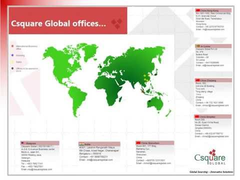 Csquare  - Global sourcing innovative solutions