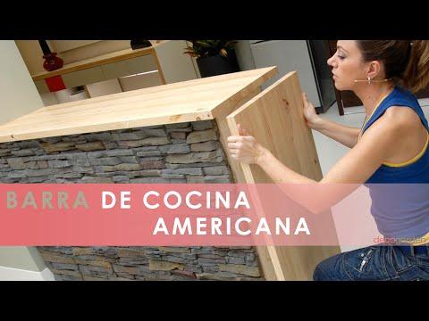 Barra de cocina americana  Decogarden  YouTube