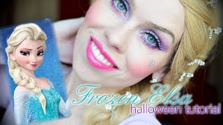 ❉ Frozen Elsa Halloween makeup tutorial ❉ / Elsa - ledová královna