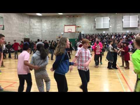 Square dancing competition at La Venture Middle School