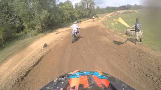 Insane motocoss race at haspin acres. wrecks everywhere