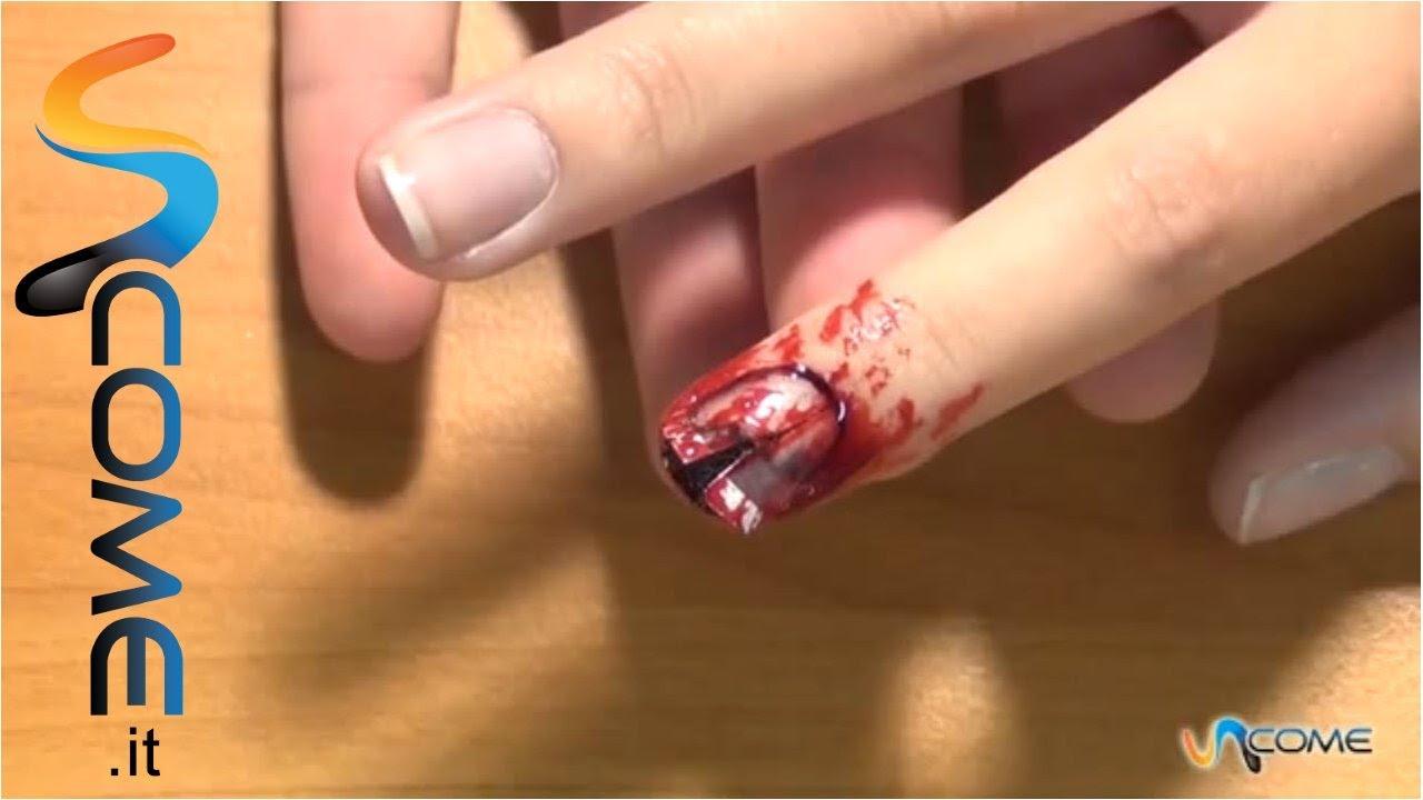 Molto Ricreare effetto unghia rotta per Halloween - YouTube OA29