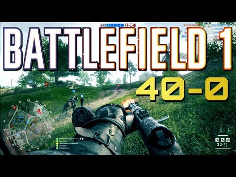 Battlefield 1: Casual 40-0 (Ps4 Pro Multiplayer Gameplay)