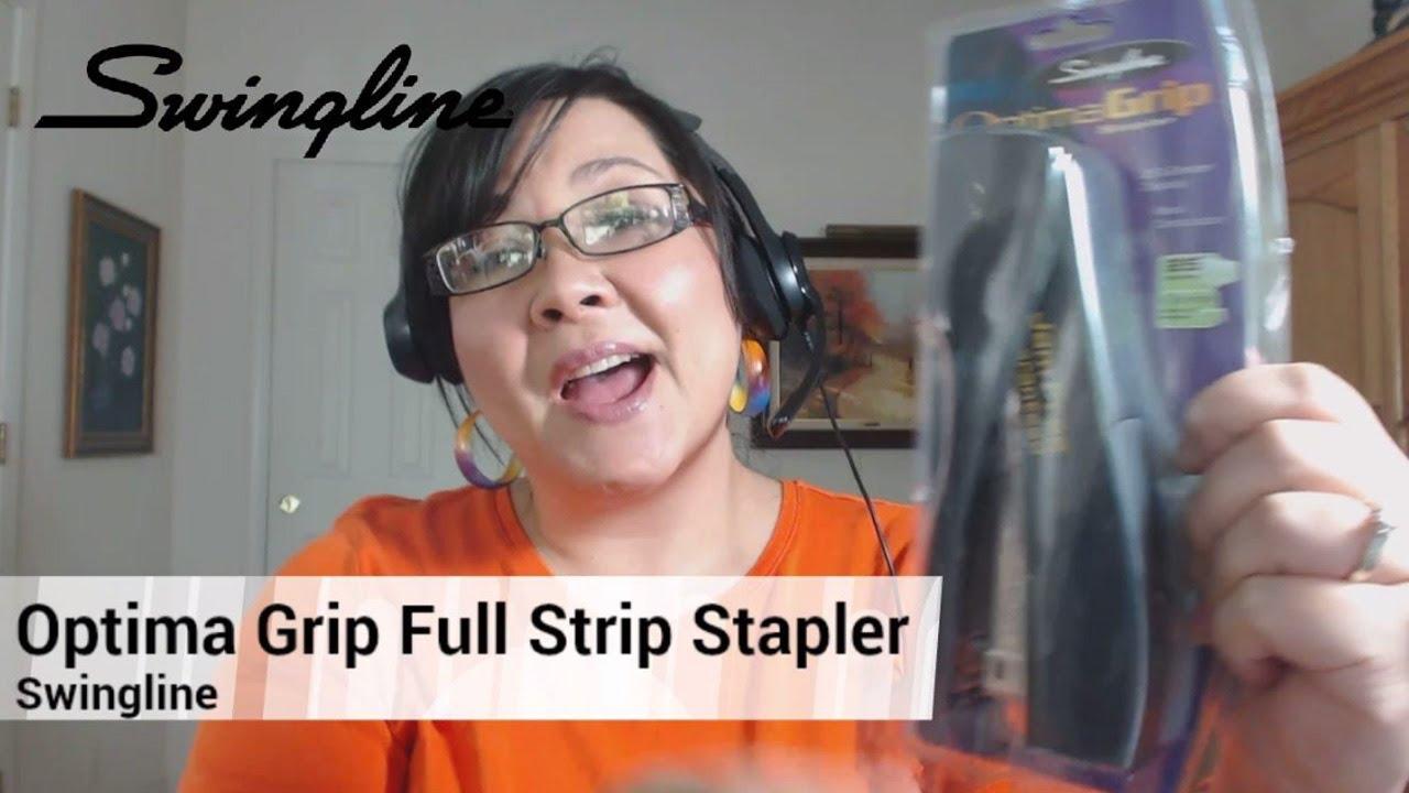 Swingline Optima Grip Full Strip Stapler 25-Sheet Capacity Graphite SWI 87810