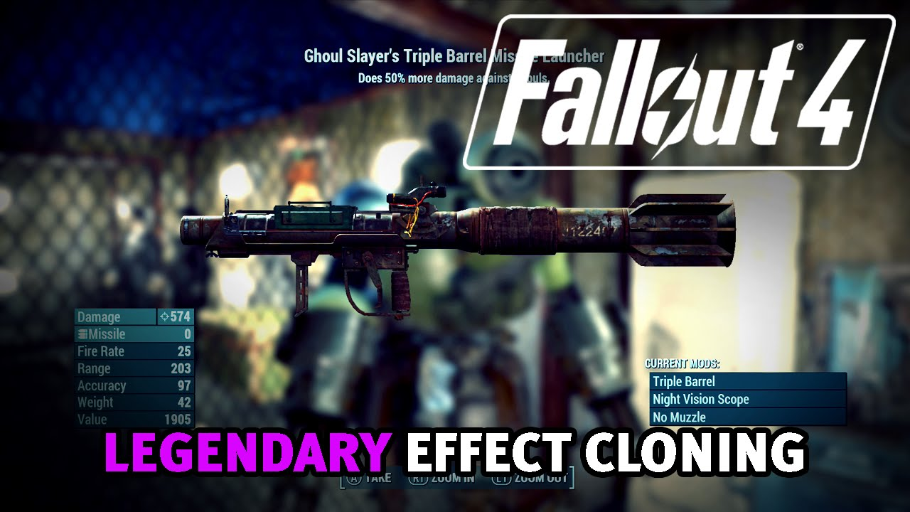 Fallout 4 - Clone Legendary Effects On To Weapons or Armor Glitch! (After  Patch 1 7/1 10)