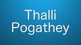 Thalli Pogathey - Karaoke by Siva LogN