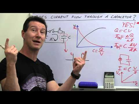 EEVblog #486 - Does Current Flow Through A Capacitor?