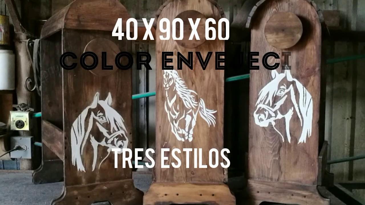 Burros para sillas de montar a caballo youtube for Sillas para caballos