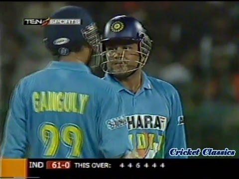 Virender Sehwag 48 off 22 Balls vs Sri Lanka 2005 | 4,4,6,4,4,4 - Blasts 26 of an over