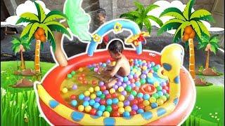 Mainan Anak | Kolam Renang Anak Model Ular, Berenang dan Mandi Bola