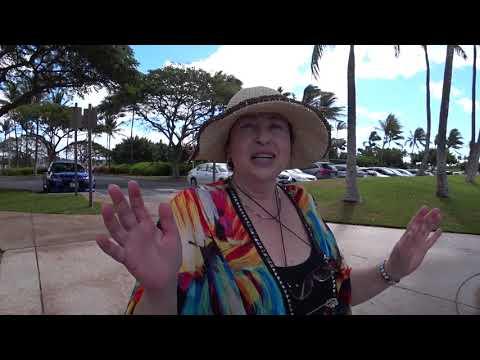 Кто там прыгает под пальмами со скакалкой? Это наши, вестимо, не гавайцы.