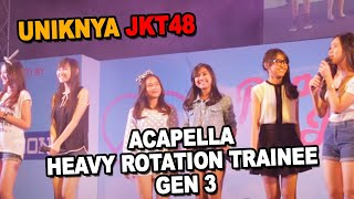 Uniknya JKT48: Acapella Heavy Rotation Trainee Gen 3