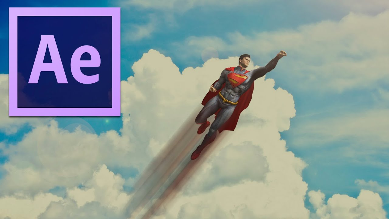 After Effects: Superman Flying Effects (Review) - YouTube