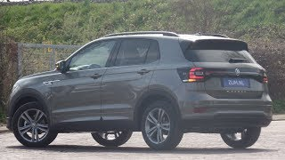 Volkswagen NEW T-Cross R-line 2019 Limestone Grey 17 inch Sebring walk around & detail inside