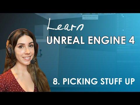 Unreal Engine 4 Beginner's Tutorial #8 - Picking Stuff Up (Raycasting)