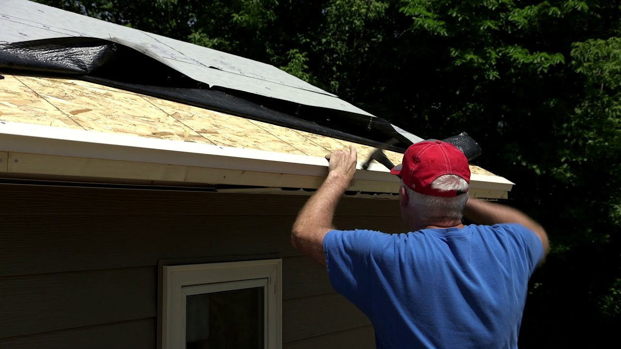 Soffit Installation Roof Drip Edge Youtube