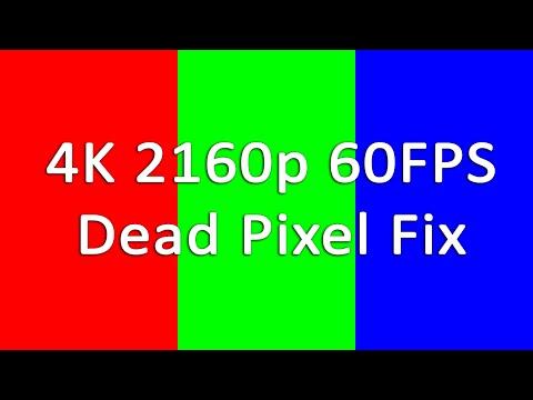 4K 2160p 60FPS Dead/Stuck/Defective Pixel Fix (1 hour RGB flashes)