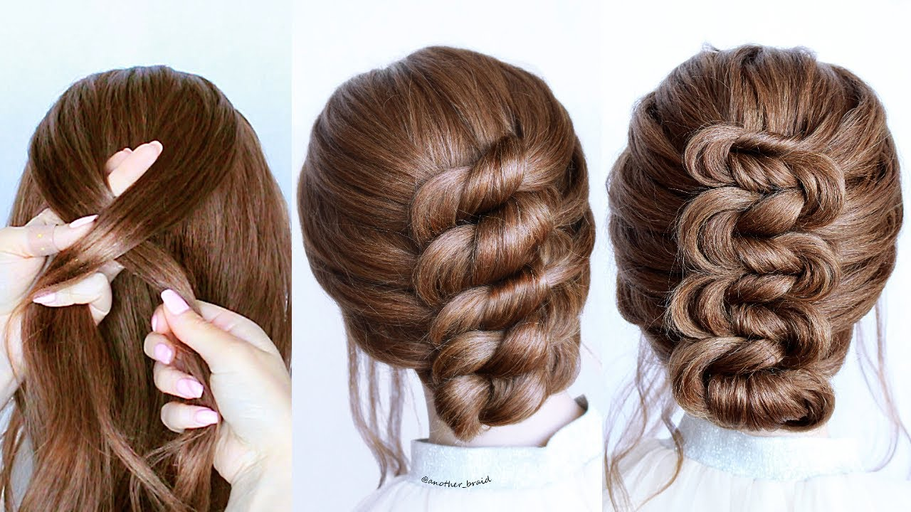 😱 Easy UPDO HAIRSTYLE Tutorials😍 Wedding Prom Updo perfect for medium & shoulder length hair