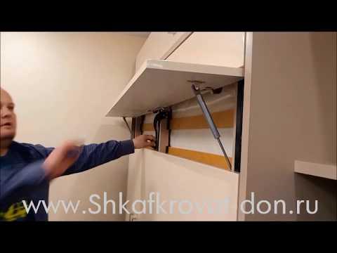 Подъемная кровать с тв стойкой, фабрика мебели Шкаф-кровать-Дон