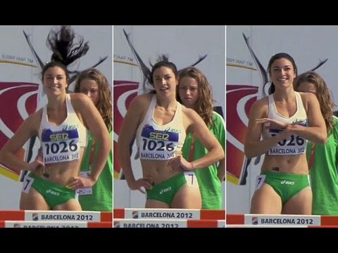 Michelle Jenneke Dancing As Hell At Junior World Championships In Barcelona 2012