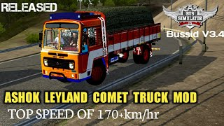 Download Ashok Leyland  COMET TRUCK MOD For Bus Simulator Indonesia|BUSSID V3.4