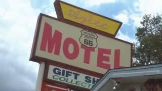 Zanna Coffee at the Atzec Motel on Route 66 in Seligman AZ