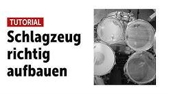 Schlagzeug aufbauen - so geht's Schritt für Schritt Tutorial