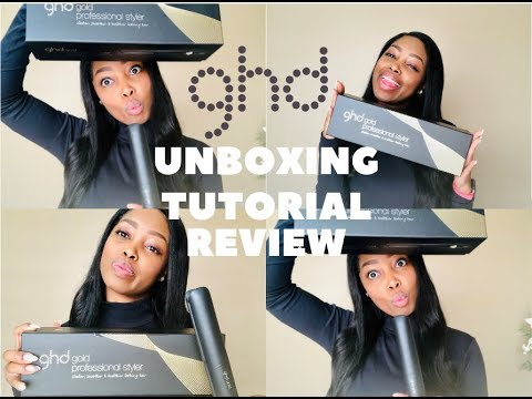 Unboxing and Hair Tutorial  GHD Gold Professional Styler    South African YouTuber